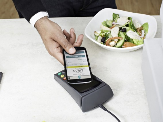 £15 for a salad! - EE's version of an NFC wallet 'cash on tap' shown here - NFC might be great, but it doesn't stop you getting ripped off....